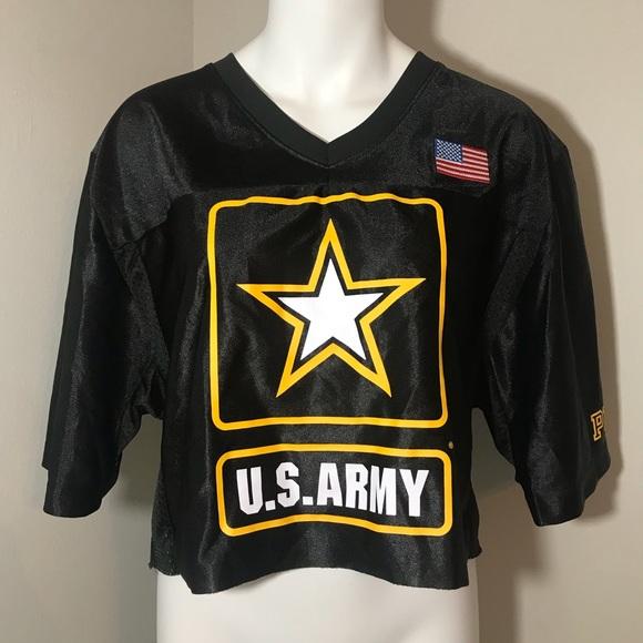 Victoria s Secret US ARMY Cropped Football Jersey e57abc67a